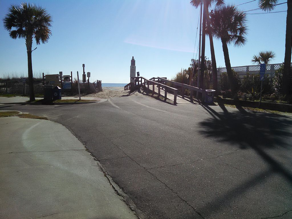 The view from the street. A friendly beach access street.