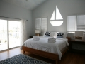 Large King Bedroom with huge private bath with garden tub and view of the beach