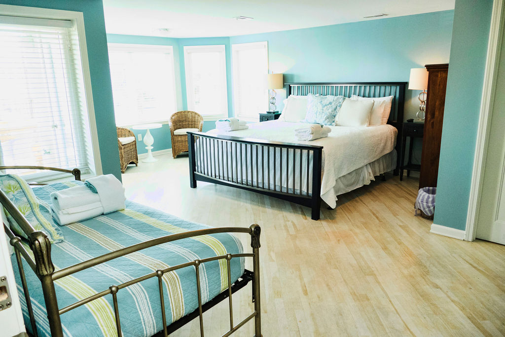 Bedroom at Sea Spray, a Tybee Island vacation rental home