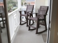 Chairs on the balcony at Silver Belles Condo located on Tybee Island