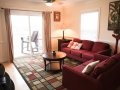 Living room at Silver Belles Condo located on Tybee Island